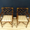 Pair of Vintage rattan armchairs - Chinese spirit bamboo