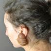 Boucles d'oreilles Vintage en bois LANVIN