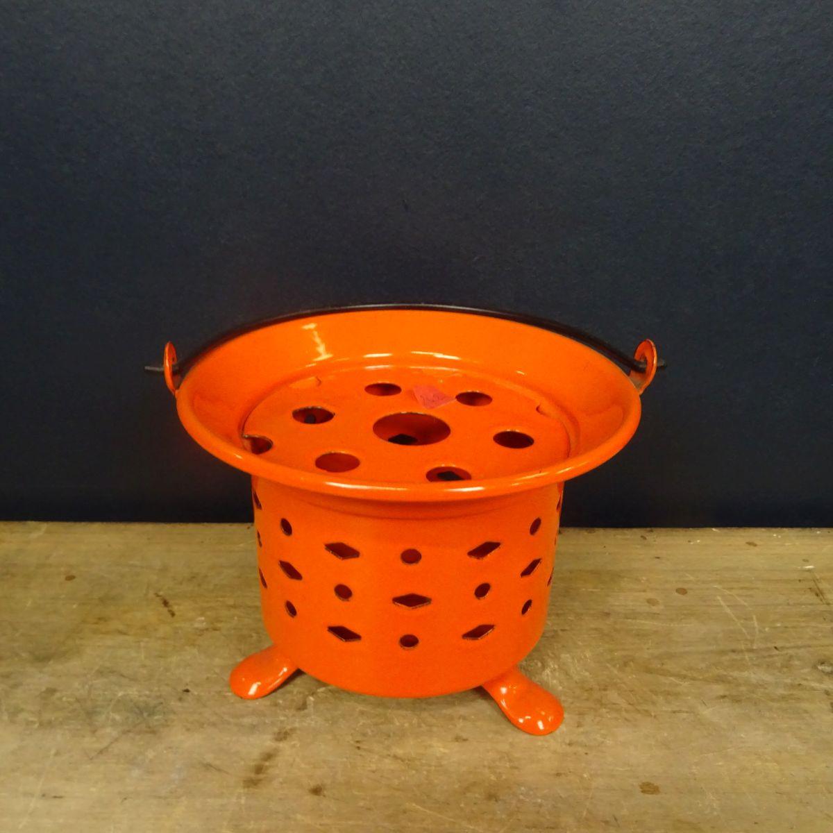 Chauffe-plat métal orange - lanterne de jardin - Le palais ...