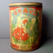Very large BRAVO Vintage biscuit box