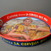 Round tray in metal advertising CORONA