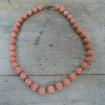 Petit collier Vintage à perles en éponge corail