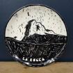 Earthenware plate La Rocca, signed