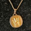 """Médaille """"Saint Christophe"""" moderne en plaquée or"""