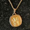 "Modern ""Saint Christopher"" gold plated medal"