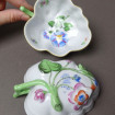 2 HEREND SWISS porcelain appetizer bowls, sugar bowl, ashtray from HEREND
