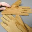 Paire de gants femme cuir peccary camel T.7