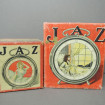 "2 old ""JAZ"" cardboard alarm clock boxes"