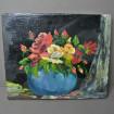 Bouquet de fleurs, huile sur toile signée R. MENAGER