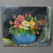 Bouquet of flowers, oil on canvas signed R. MENAGER