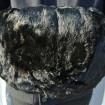 Old black genuine fur sleeve