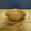 Flat basket in wicker braided with two handles