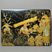 Large lacquered box with historical Japanese decoration