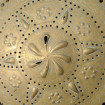 Ancien bassinoire chauffe-lits XIXème laiton et fer forgé