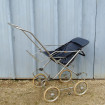 Old child stroller 1960 F.S. of walking