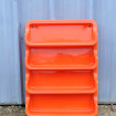 PRISUNIC 1970 large shelf orange plastic