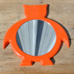 "Mirror 1960 ""Owls"" orange plastic mirror"