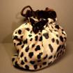 Leopard printed velvet bag