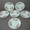 """6 Dessert plates MOULIN des LOUPS """"Cows and children"""""""