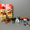 """4 Horses and 3 """"Southern"""" characters PLAY -BIG 1970"""