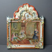 Hand-painted earthenware plaque 19th LILLE 1767 after HOGARTH