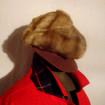Vintage fur hat with mesh visor