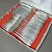 11 Art Nouveau silver plated metal fish cutlery WMF
