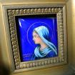 Virgin Mary enamel signed G. CANDELIER in LIMOGES