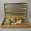 Wooden Backgammon game around 1940 - 1950