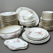 "Old fine porcelain table set ""Flowers"" 66 pieces"