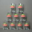 8 JOKER advertising juice glasses
