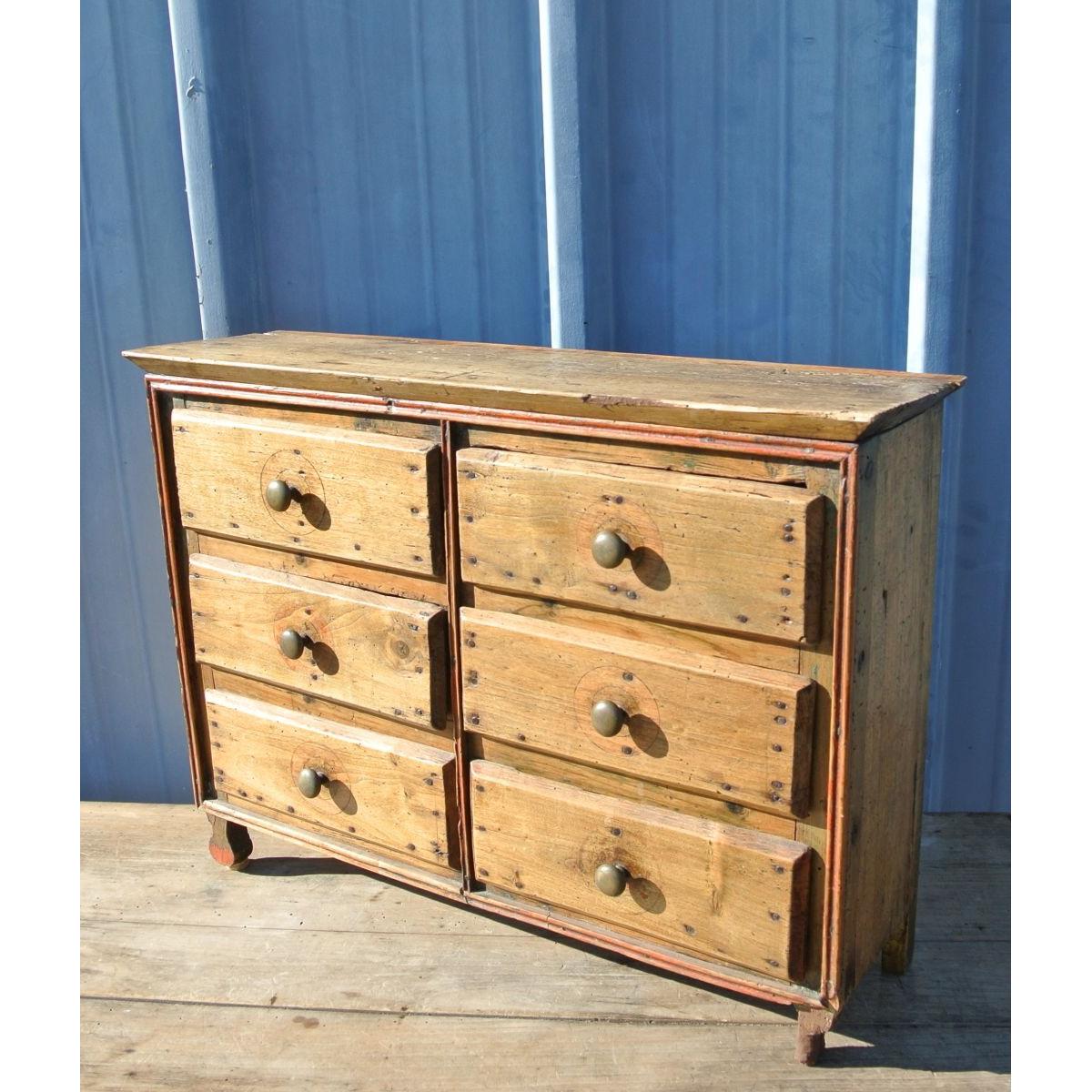 Petit Meuble Range Tout rangement - petit meuble de métier 6 tiroirs - le palais des