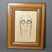 Face of Christ pencil signed Louis de BEAUMONT