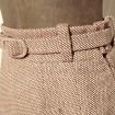 Jupe mi- longue en laine LANVIN Vintage T.36