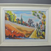 Oil coloured sketch signed CONTAMINE 1950