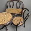 Rare salon de poupée fauteuils & table THONET 1885