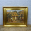 "Beautiful canvas framed by Axel HANSEN ""Small Danish farmhouse"""