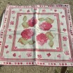 2 Large MADURA pink flower cushion covers