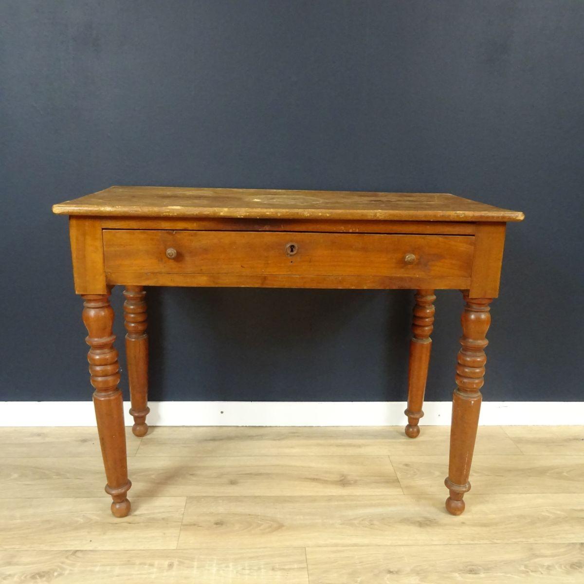 Petit Etabli Bois Ancien petite table en bois ancienne à un tiroir - le palais des