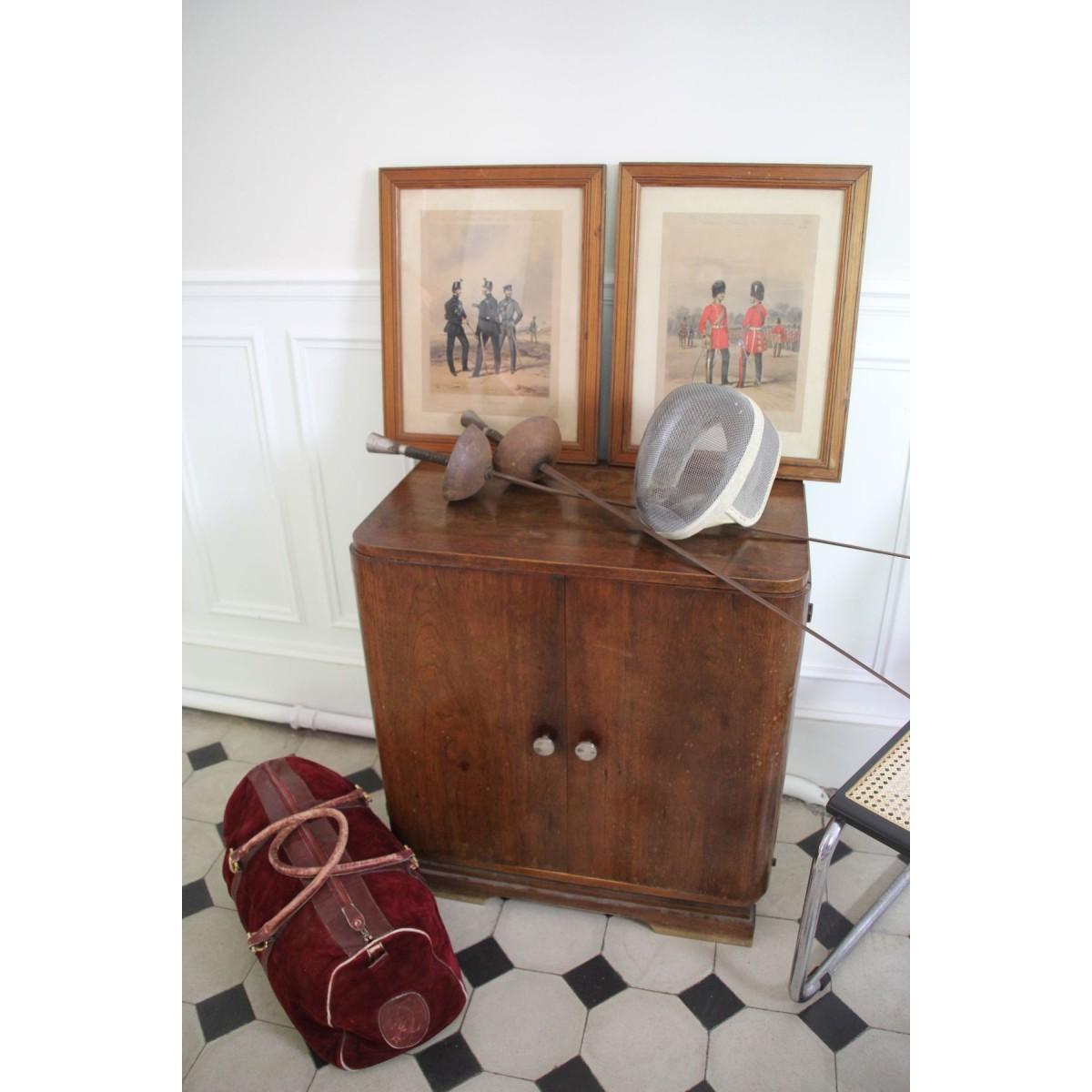 Dresser Une Table À L Anglaise 2 lithographies costumes armée anglaise par ackermann - le