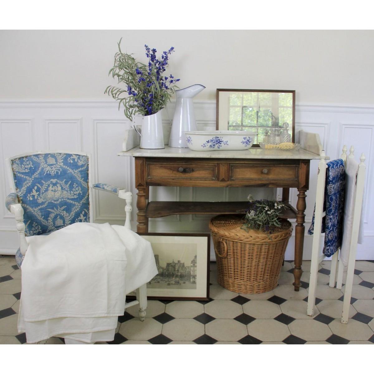 Relooker Une Table De Toilette En Marbre table de toilette ancienne en bois à plateau en marbre blanc