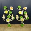 "Pair of ""Daisy"" Vintage metal wall lights"